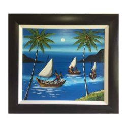 Dark Brown Frame with white mounting