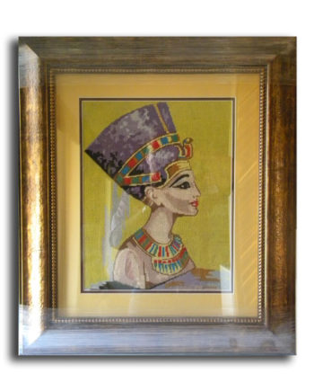 Tapestry Frame with Gold Frame & Yellow Mounting