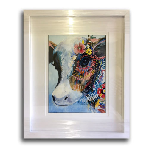 Art with White Frame & White Mounting