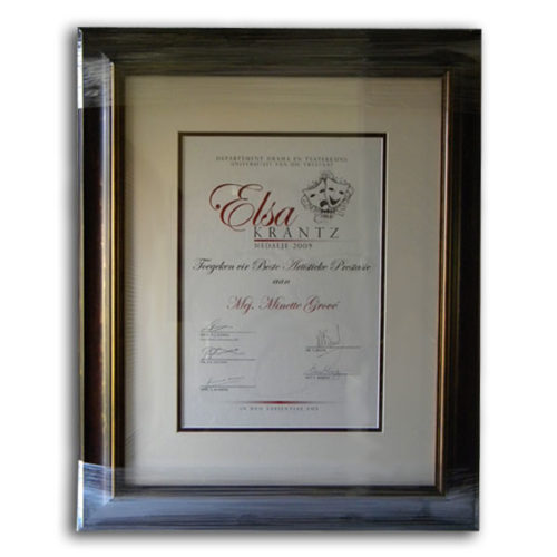 Certificate Framing with Mounting