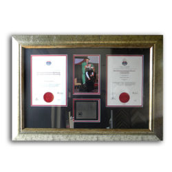 Certificate with Photos & Memorabilia