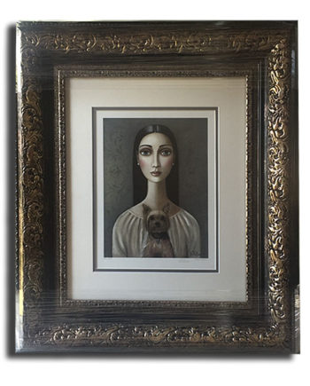 Gold Frame with Double White Mounting