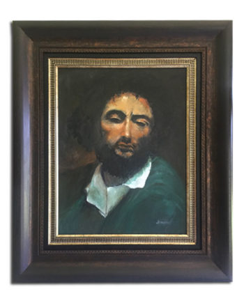 Art Portrait Wood & Gold Frame