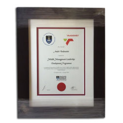 Wooden Certificate Framing